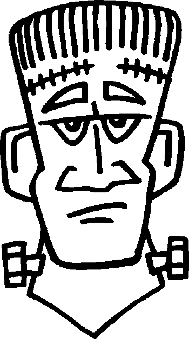 Halloween Frankenstein Coloring Pages Frankenstein Coloring Page Free Printable Pages For Monesmapyrene