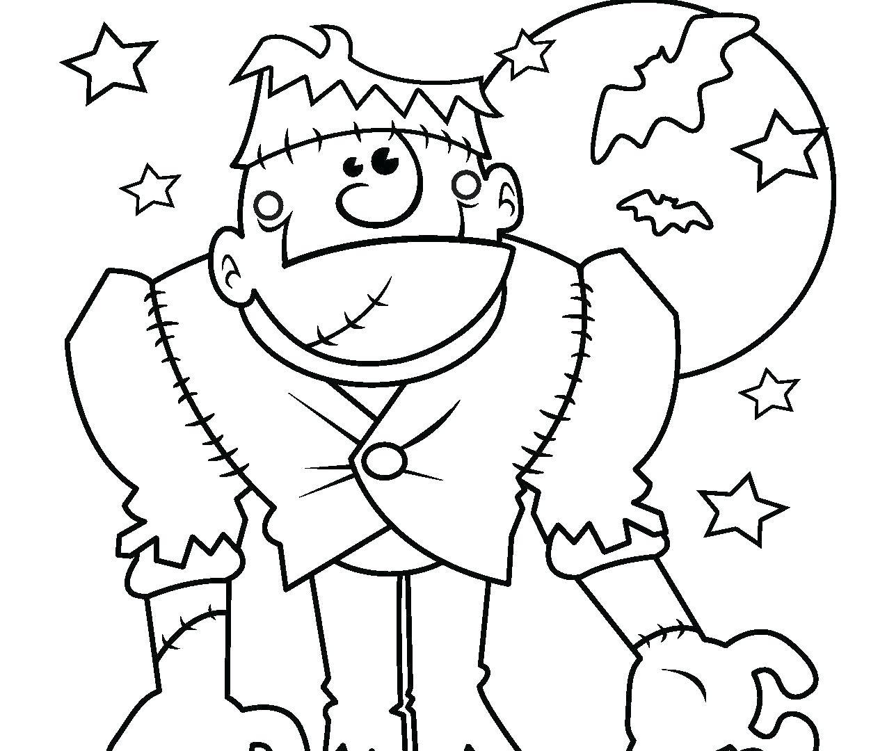 Halloween Frankenstein Coloring Pages Frankenstein Full Size Coloring Pages Print Coloring