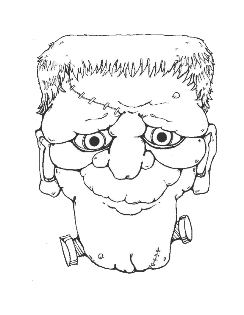 Halloween Frankenstein Coloring Pages Halloween Careta De Frankenstein Para Colorear Halloween