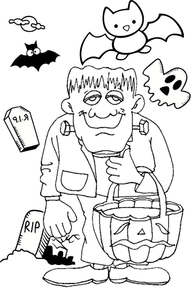 Halloween Frankenstein Coloring Pages Halloween Frankenstein Coloring Pages Jack O Lantern Pumpkin Print