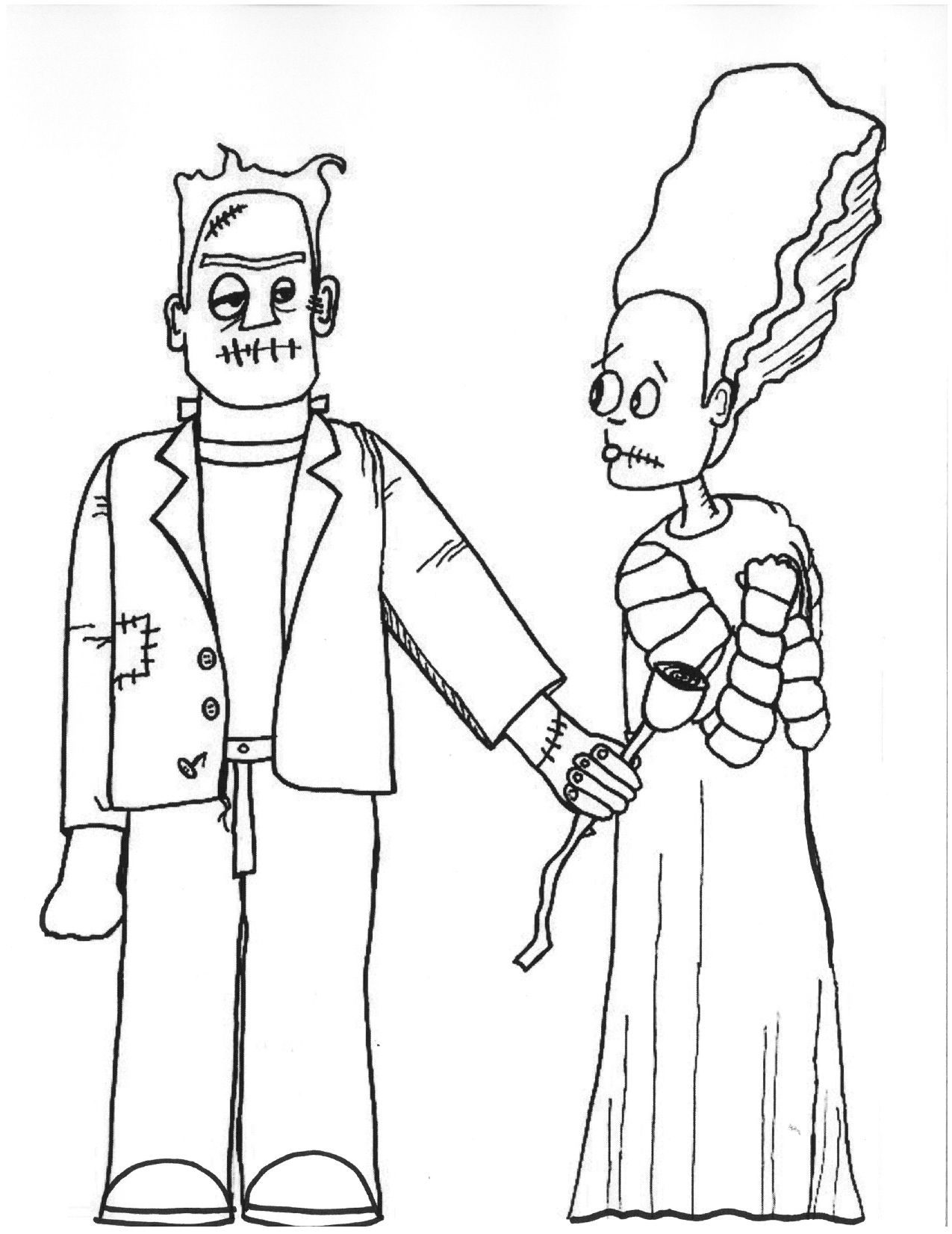 Halloween Frankenstein Coloring Pages Halloween Word Search
