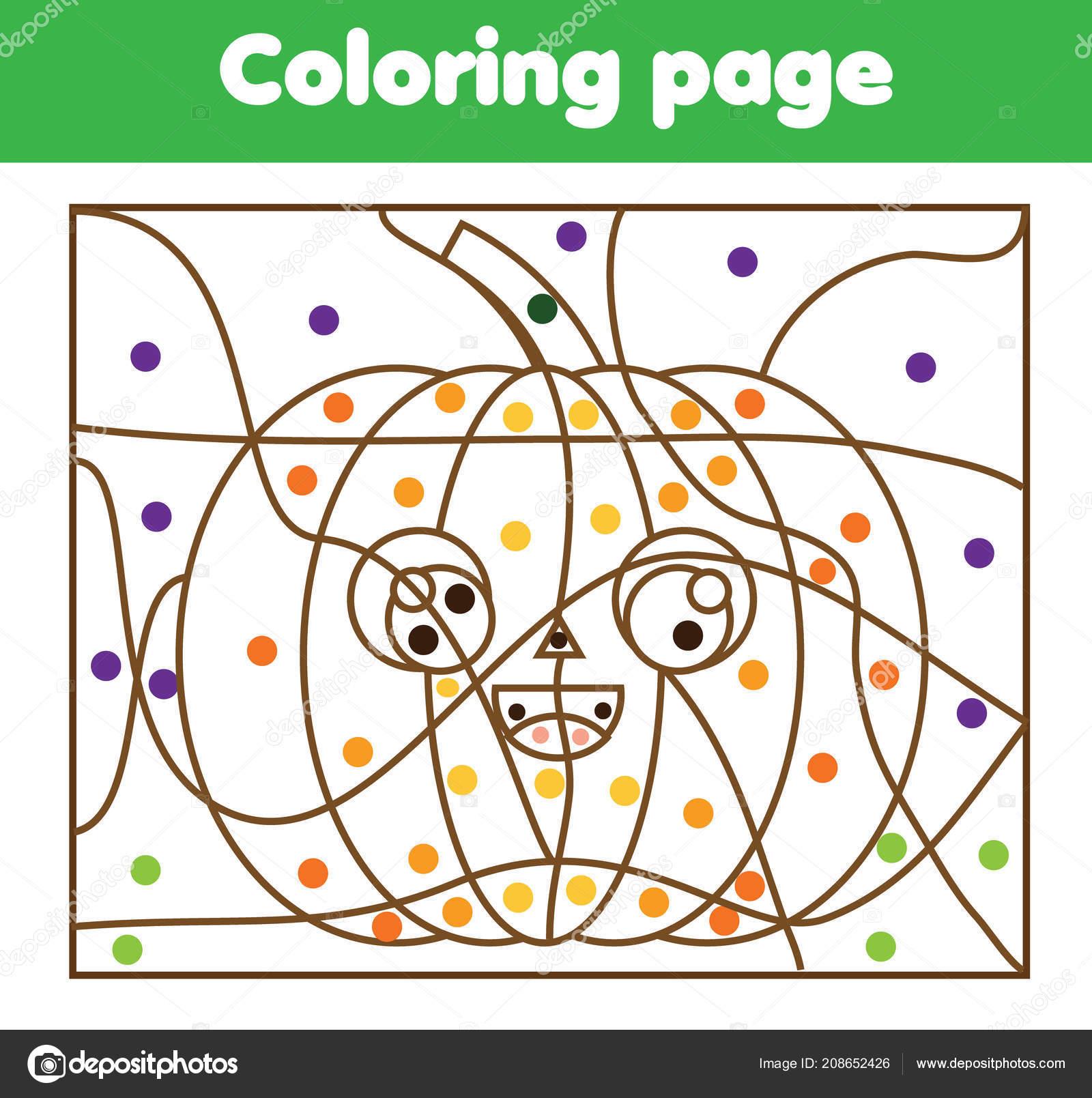 Halloween Pumpkin Coloring Pages Printables Children Educational Game Coloring Page Cartoon Halloween Pumpkin