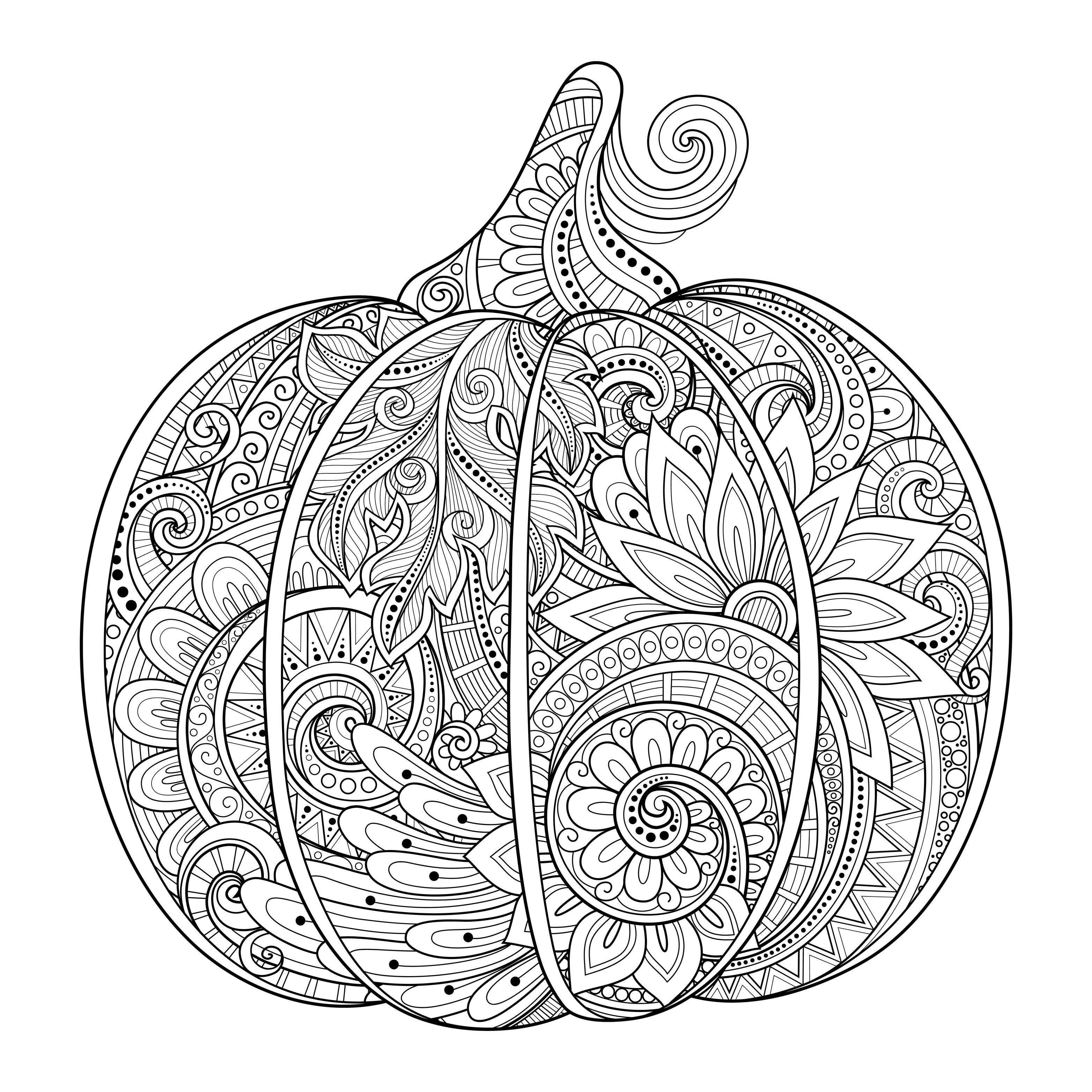 Halloween Pumpkin Coloring Pages Printables Halloween Pumpkin Zentangle Source 123rf Irinarivoruchko Zentangle