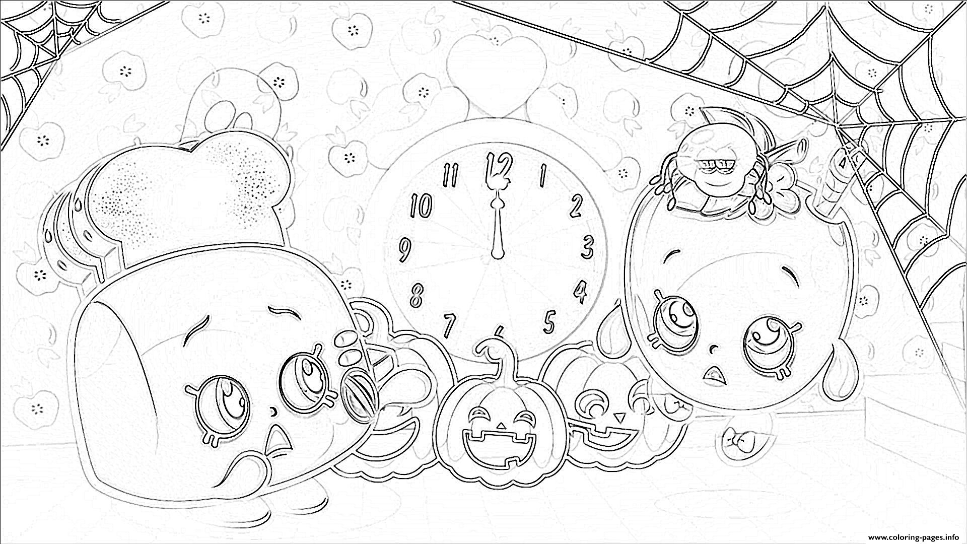 Halloween Pumpkin Coloring Pages Printables Shopkins Halloween Pumpkins Coloring Pages Printable