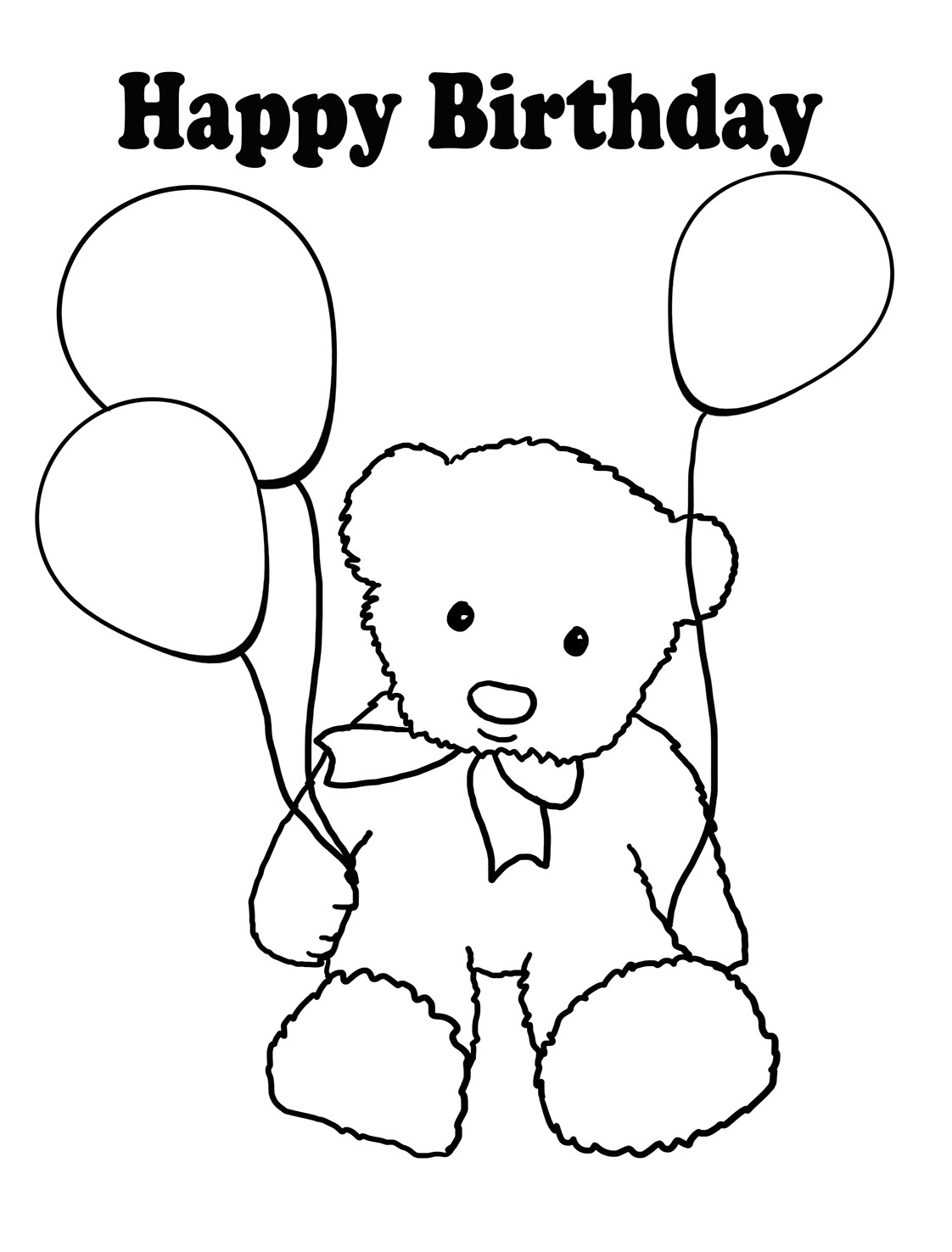 Happy Birthday Coloring Pages To Print Birthday Coloring Pages