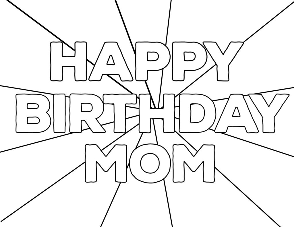 Happy Birthday Coloring Pages To Print Coloring Free Printable Happy Birthday Coloring Pages Paper Trail