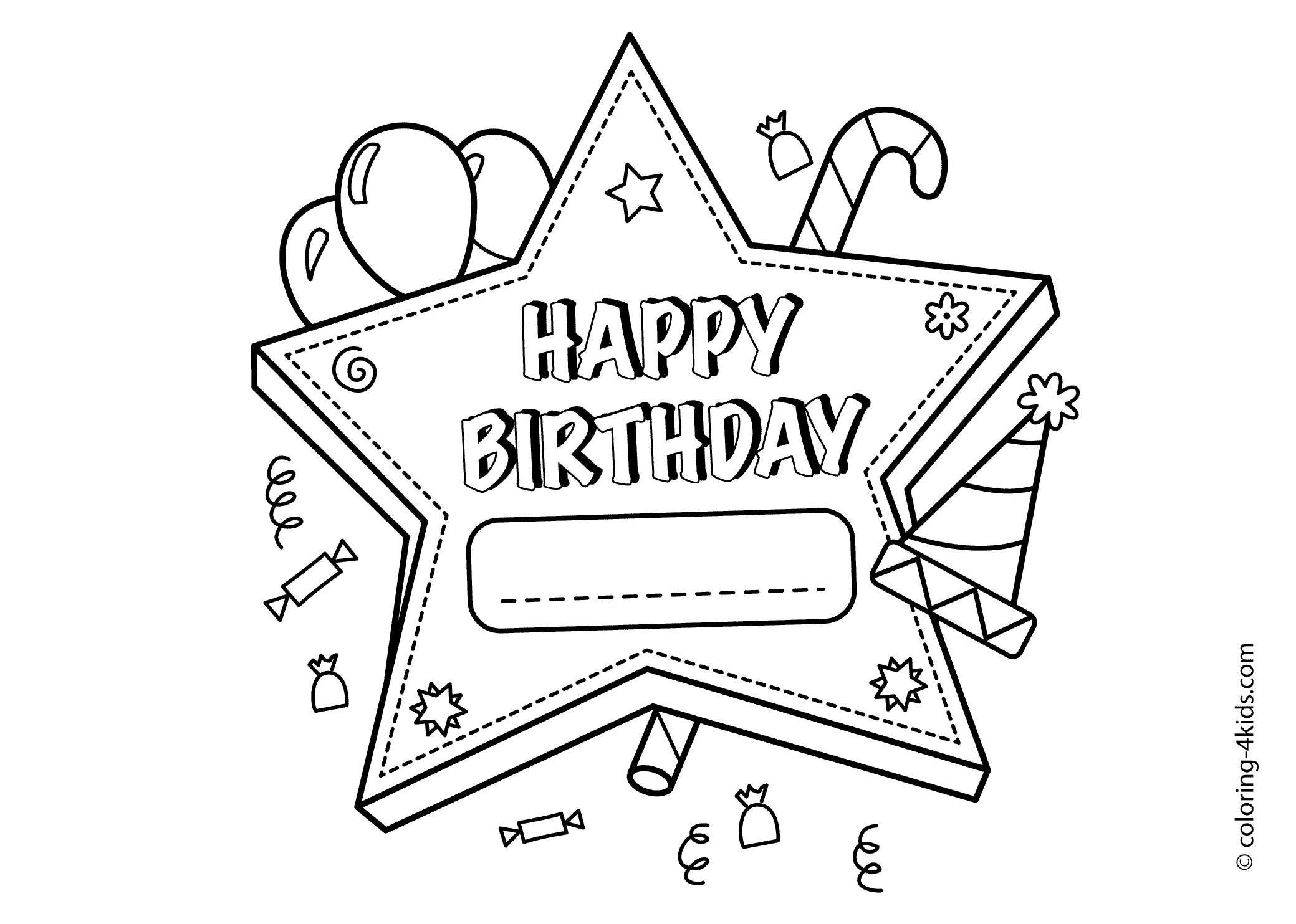 Happy Birthday Coloring Pages To Print Coloring Ideas Coloring Ideas Happy Birthday Card Printable Pages