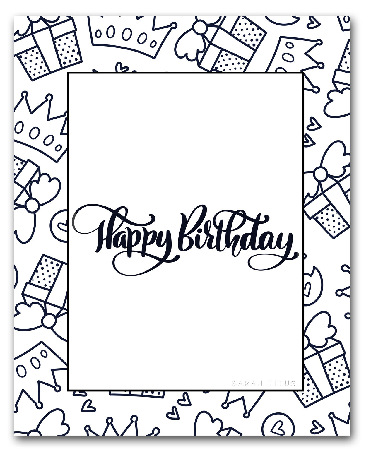 Happy Birthday Coloring Pages To Print Coloring Pages Coloring Pages Free Happy Birthday Printable