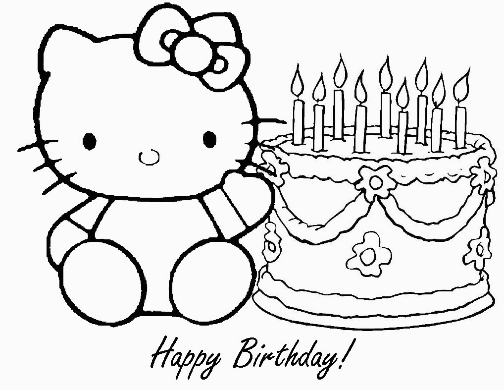Happy Birthday Coloring Pages To Print Free Printable Happy Birthday Coloring Pages For Kids For Happy