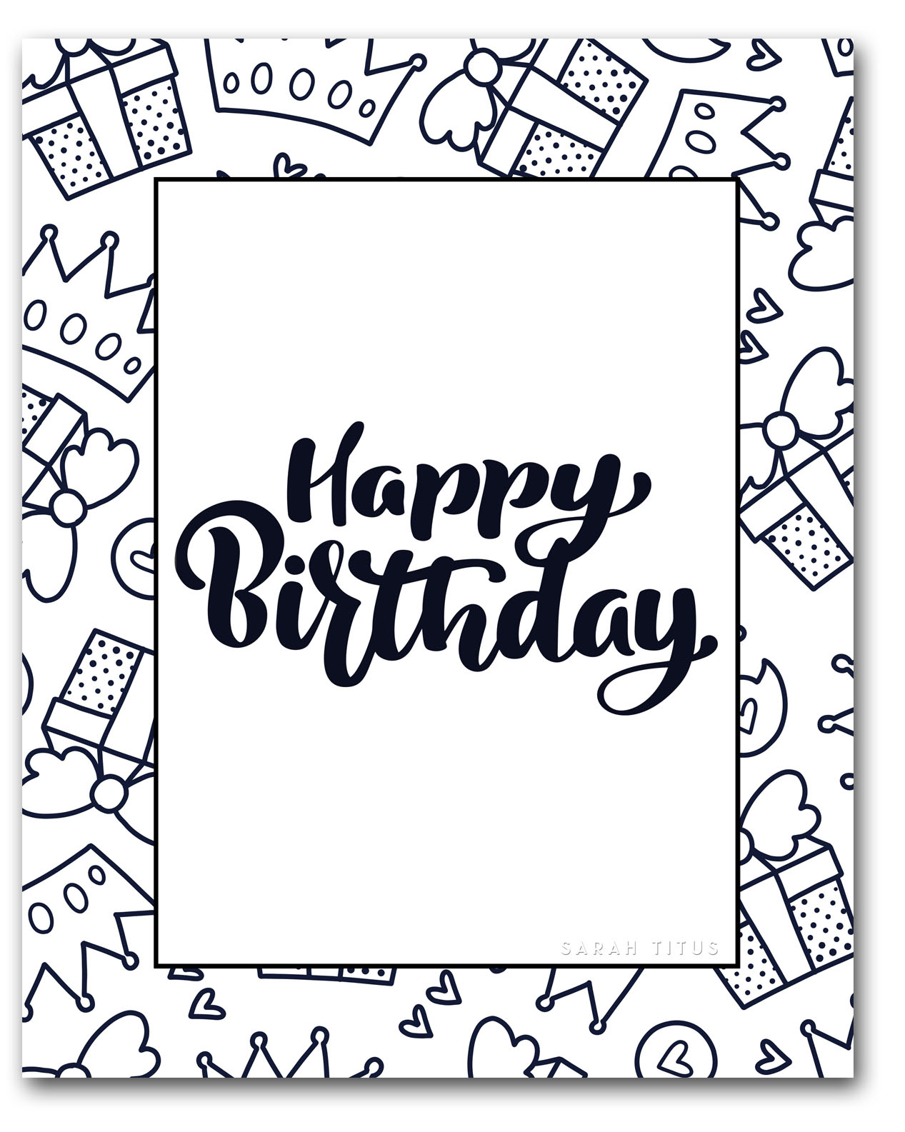Happy Birthday Coloring Pages To Print Free Printable Happy Birthday Coloring Sheets Sarah Titus