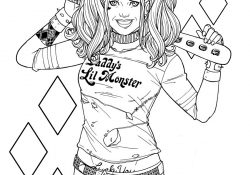 Harley Quinn Coloring Pages To Print Harley Quinn Coloring Pages Print And Color