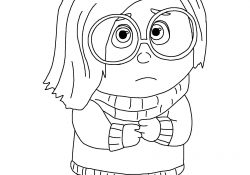 Inside Out Sadness Coloring Page Disneys Inside Out Movie Coloring Pages Create Play Travel