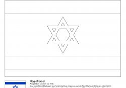 Israel Flag Coloring Page Israeli Flag Coloring Page Free Printable Coloring Pages