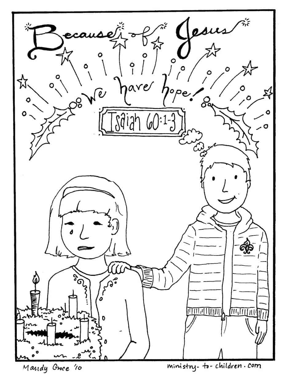 Jesus Christmas Coloring Pages Christmas Coloring Pages Jesus Gives Hope Free Printable