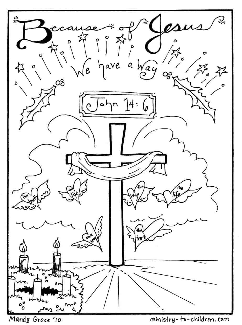 Jesus Christmas Coloring Pages Christmas Coloring Sheets Jesus Is Our Way Free Printable