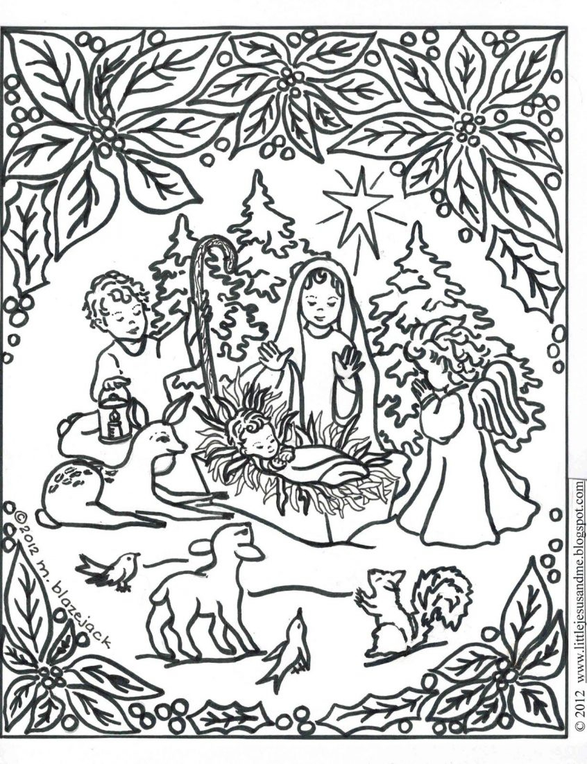 Jesus Christmas Coloring Pages Coloring Catholic Christmas Adult Coloring Pages Jesus And Nativity