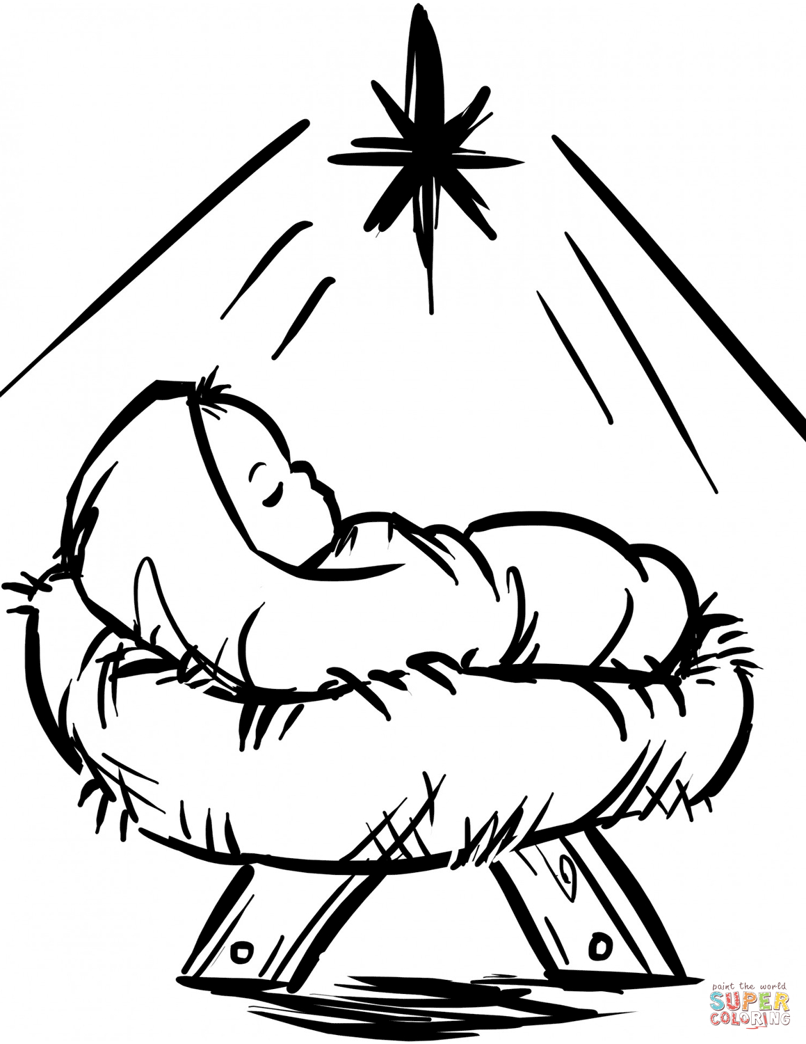 Jesus Christmas Coloring Pages Religious Christmas Coloring Pages Free Coloring Pages