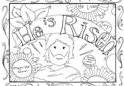 Jesus Easter Coloring Pages Printable He Is Risen Coloring Pages