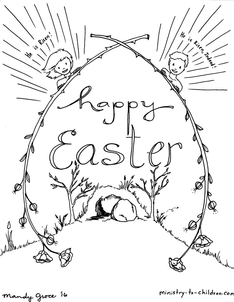 Jesus Easter Coloring Pages Printable Images Of Free Religious Easter Coloring Pages Sabadaphnecottage