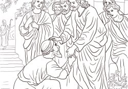 Jesus Heals The Leper Coloring Page Jesus Heals The Leper Coloring Page Free Printable Coloring Pages