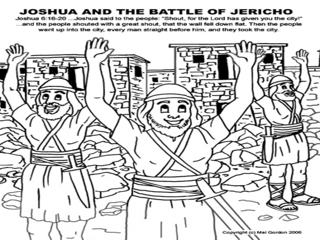 Joshua Fought The Battle Of Jericho Coloring Page 15 Joshua And Jericho Coloring Pages Sunday School Attendance Chart