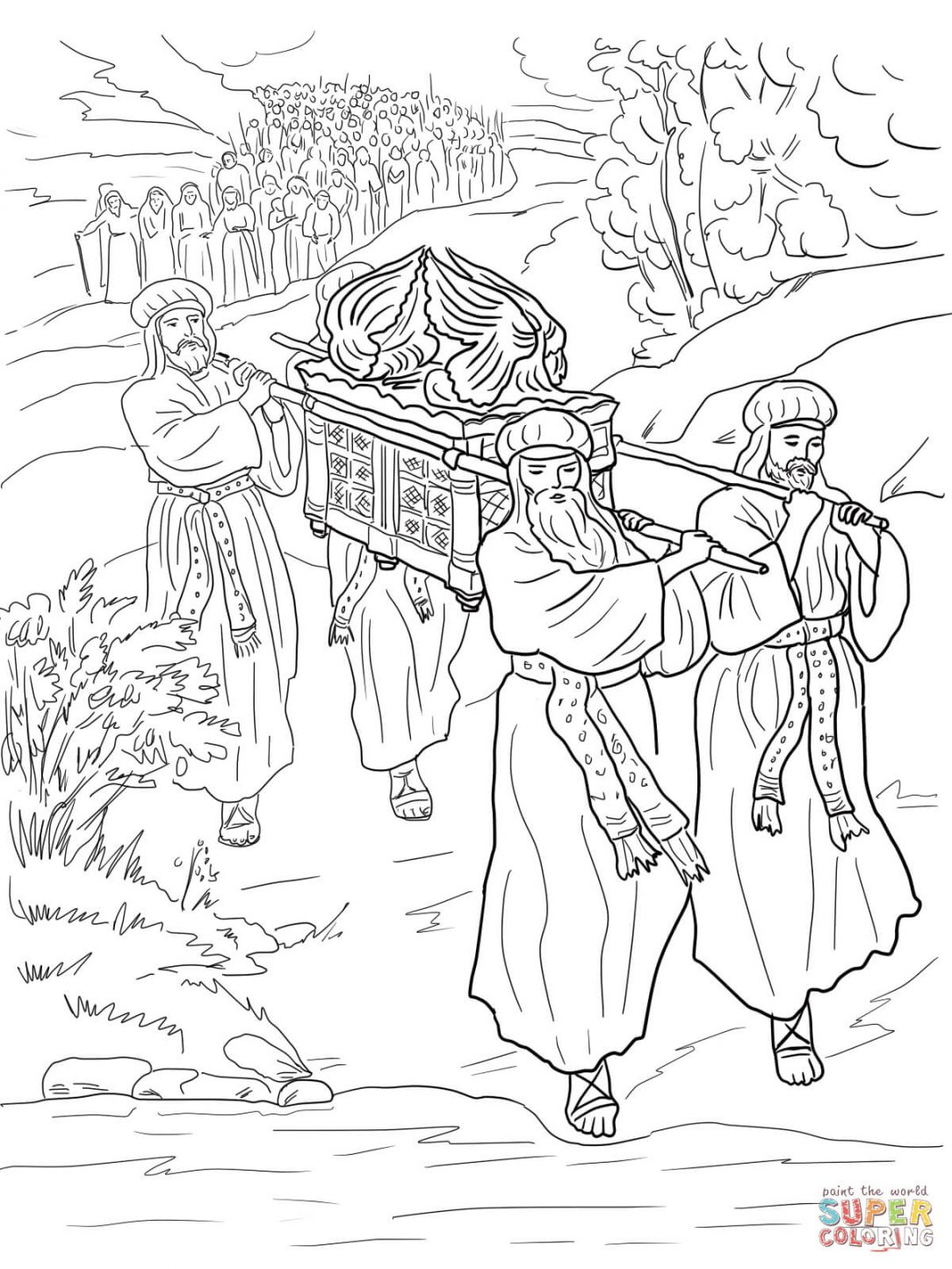 Joshua Fought The Battle Of Jericho Coloring Page Achan Coloring Page Sin Sheet Free S Barriotaqueria