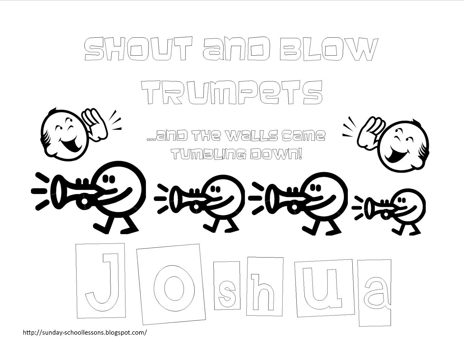 Joshua Fought The Battle Of Jericho Coloring Page Book Of Joshua Free Coloring Pages For Kids Sunday School
