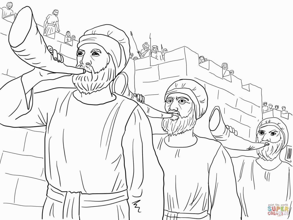 Joshua Fought The Battle Of Jericho Coloring Page Coloring Pages Battle Of Jericho Coloring Home
