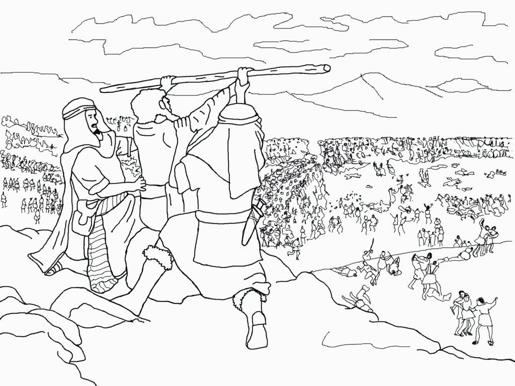 Joshua Fought The Battle Of Jericho Coloring Page Coloring Pages For Joshua Ala Model Kini
