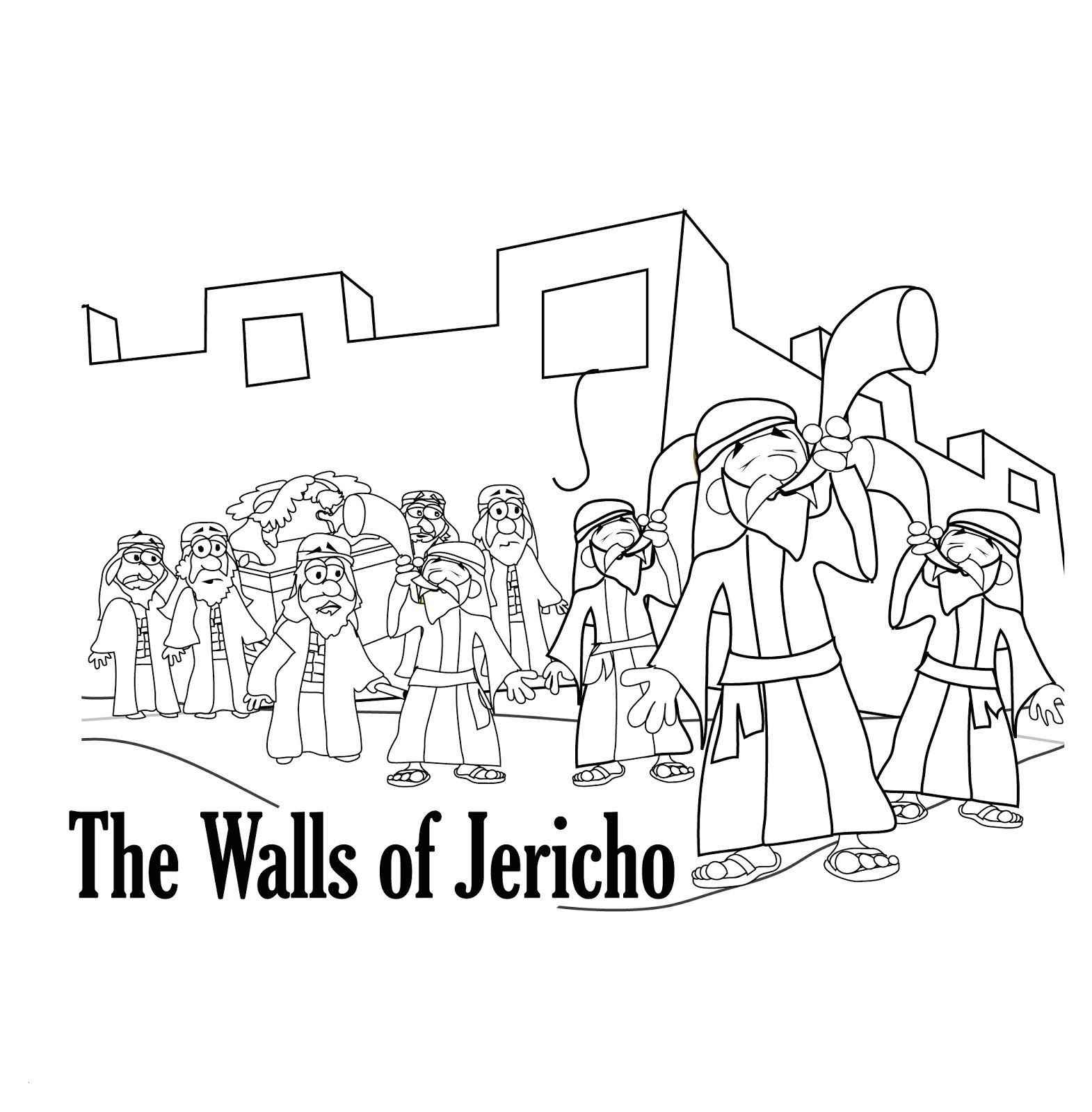 Joshua Fought The Battle Of Jericho Coloring Page New Joshua Walls Of Jericho Coloring Pages Qulu