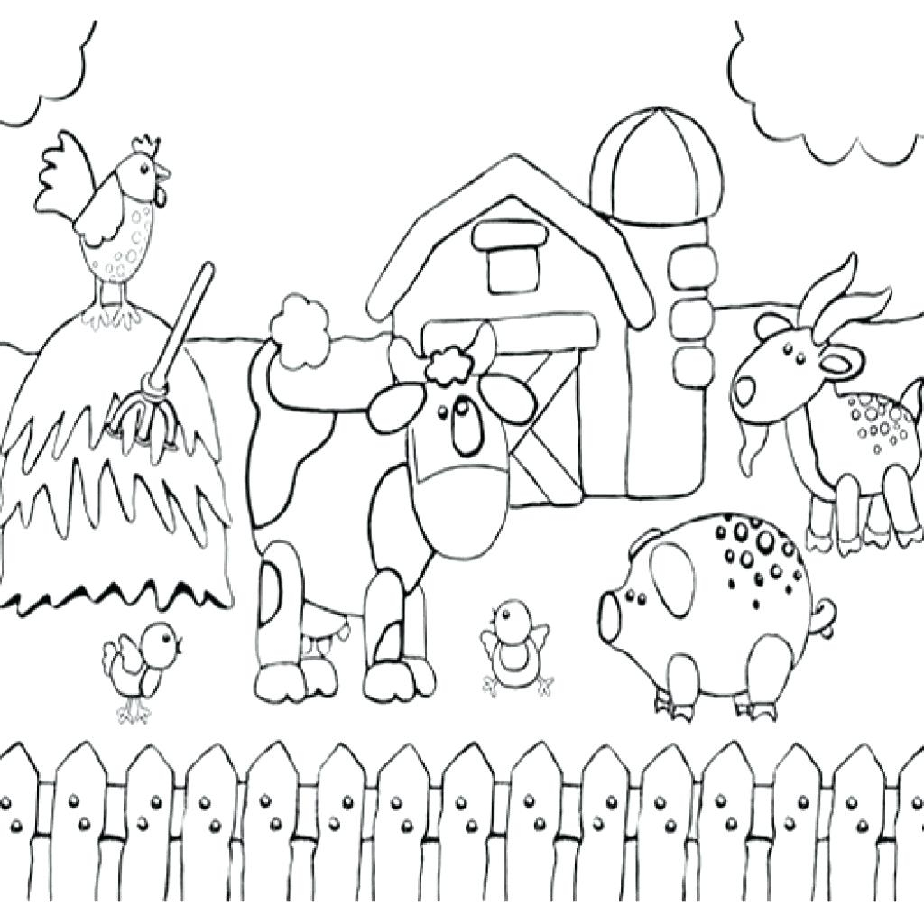 Kids Farm Coloring Pages Barn Coloring Sheet Adaptpaperco