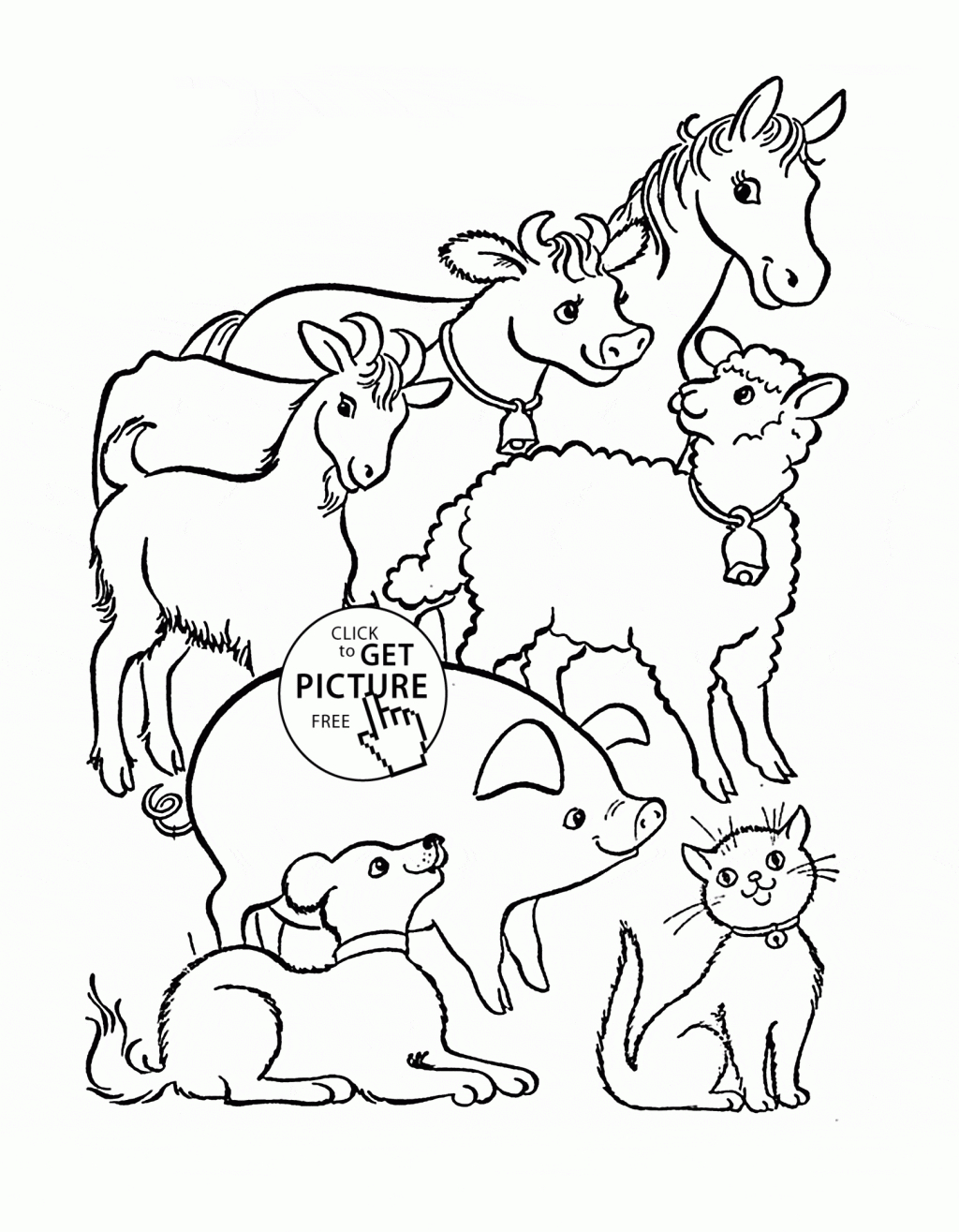 Kids Farm Coloring Pages Coloring Ideas Coloring Ideas Farm Animal Book With Fabric Also