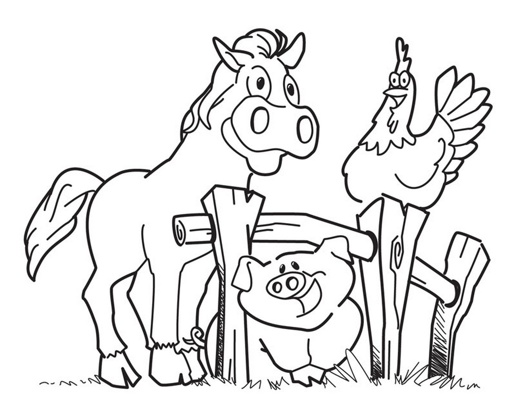 Kids Farm Coloring Pages Coloring Ideas Free Printable Farm Animal Coloring Pages For Kids
