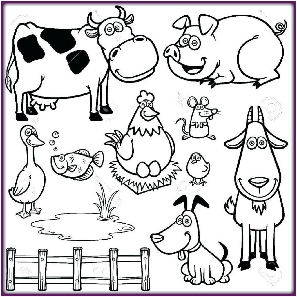 Kids Farm Coloring Pages Coloring Pages Farm Animals Coloring Pages Drawing For Kids