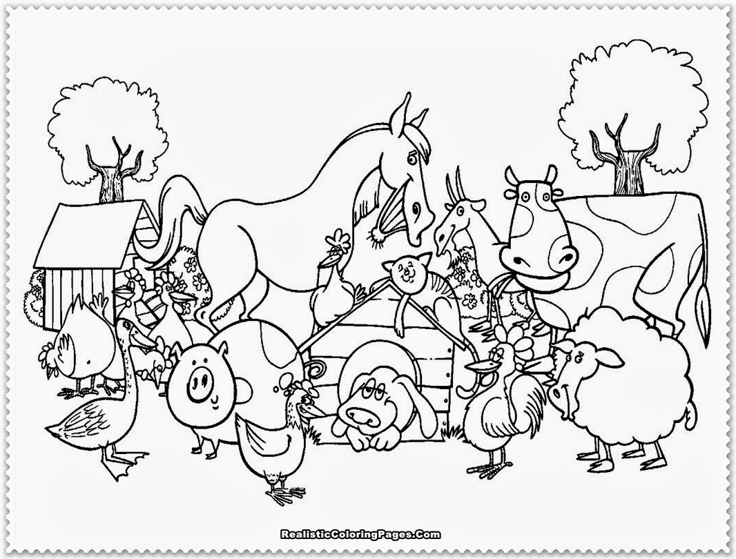Kids Farm Coloring Pages Farm Coloring Page Farm Animal Coloring Pages Thebooks