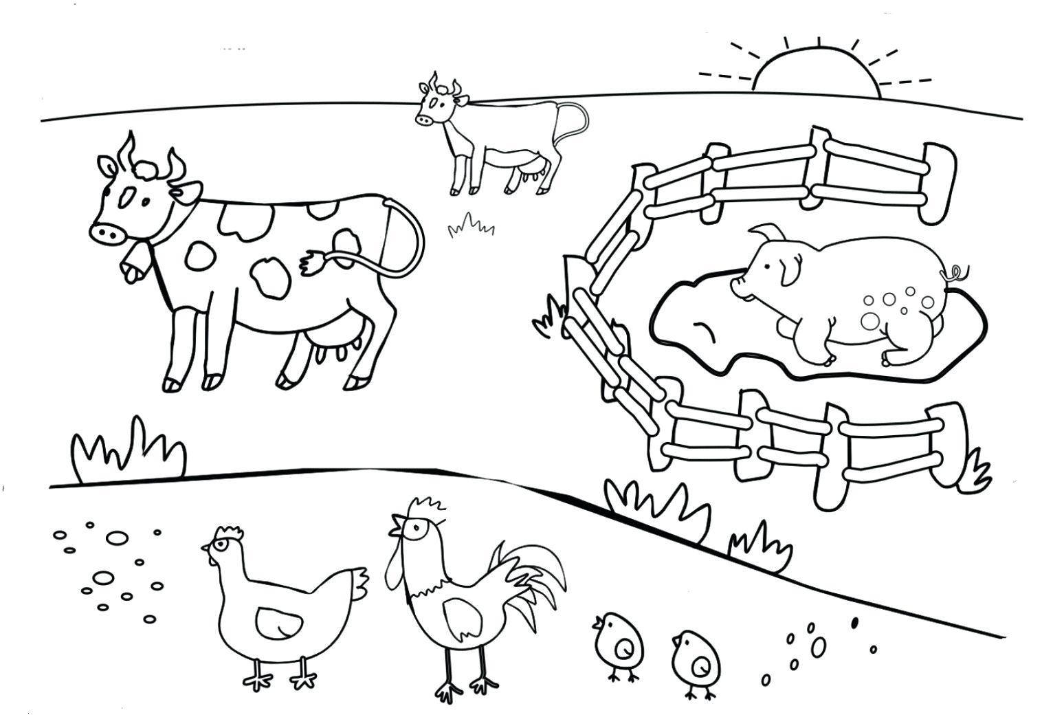 Kids Farm Coloring Pages Farm Coloring Sheet Keynotesheetco