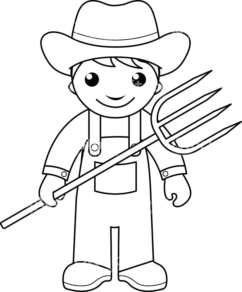 Kids Farm Coloring Pages Farmer Coloring Pages Scene Free Farm 17 Christmastoysceo