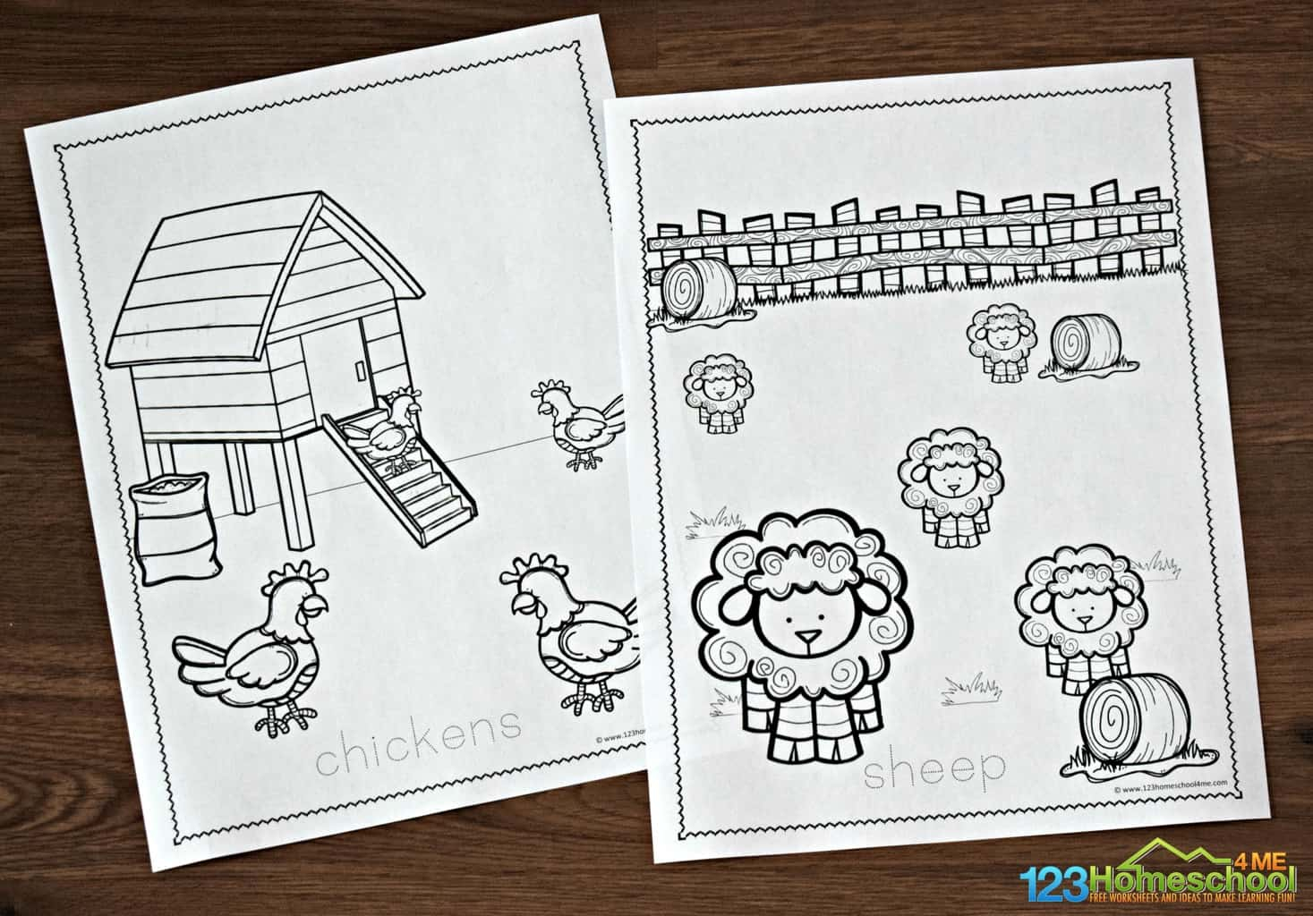 Kids Farm Coloring Pages Free Farm Coloring Pages 123 Homeschool 4 Me