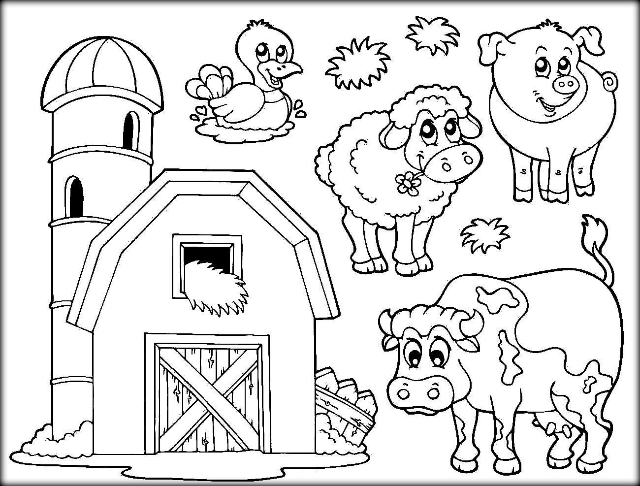 Kids Farm Coloring Pages Simple Farmer Coloring Pages For Kids Printable Coloring Page For Kids