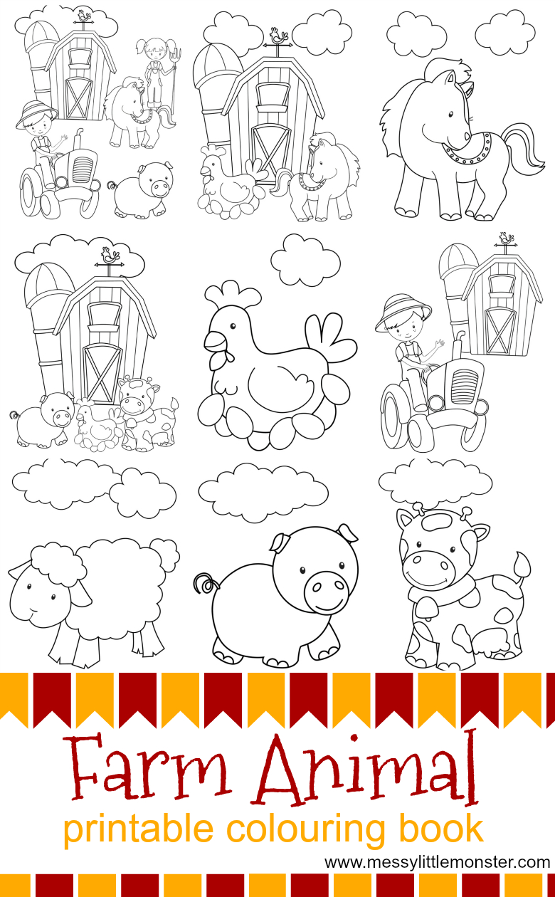 Kids Farm Coloring Pages Summer Farm Coloring Pages For Kids With Farm Animal Printable
