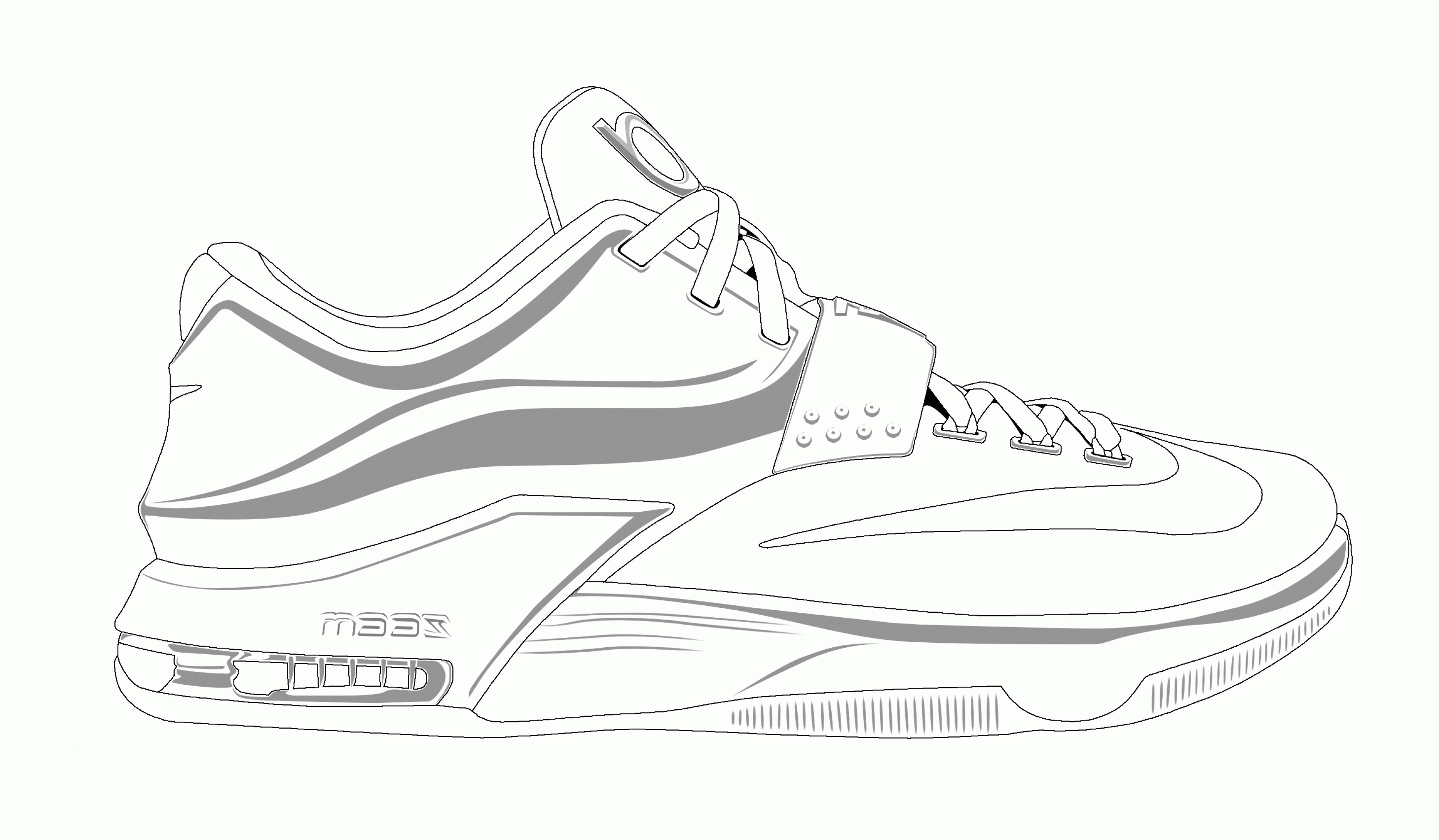 Brilliant Image Of Lebron Shoes Coloring Pages Vicoms Info