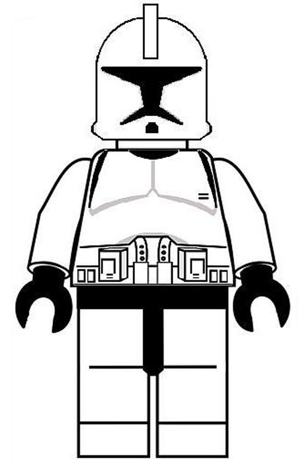 Lego Coloring Pages Star Wars Coloring Books Lego Star Wars Clone Trooper Coloring Pages