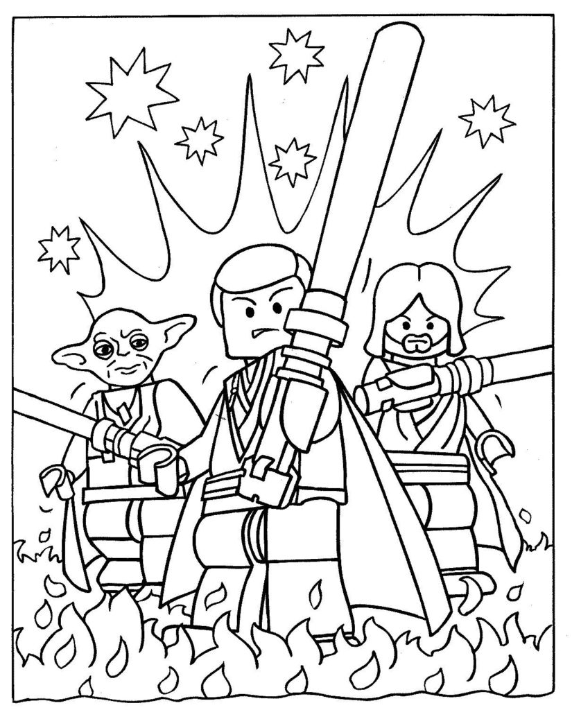 Lego Coloring Pages Star Wars Coloring Free Legor Wars Coloring Sheet Clone Pages For Kids Games