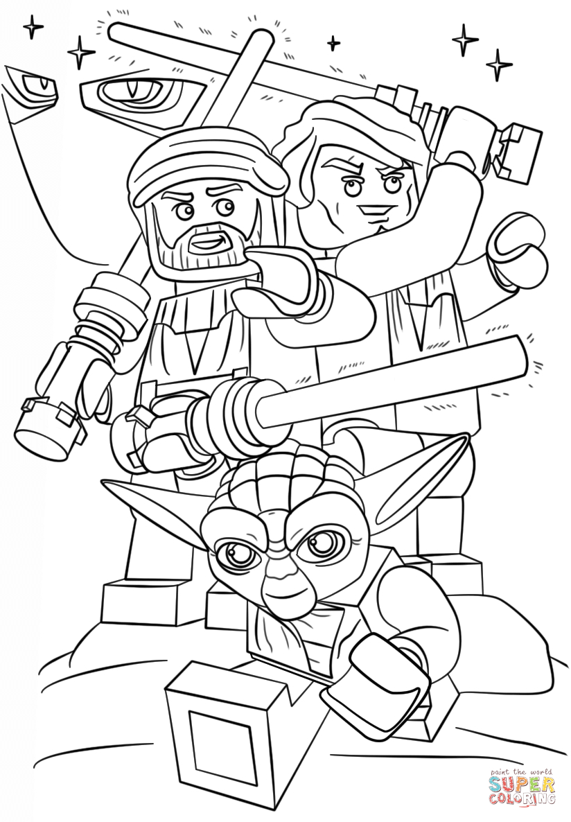 Lego Coloring Pages Star Wars Lego Star Wars Clone Wars Coloring Page Free Printable Coloring Pages