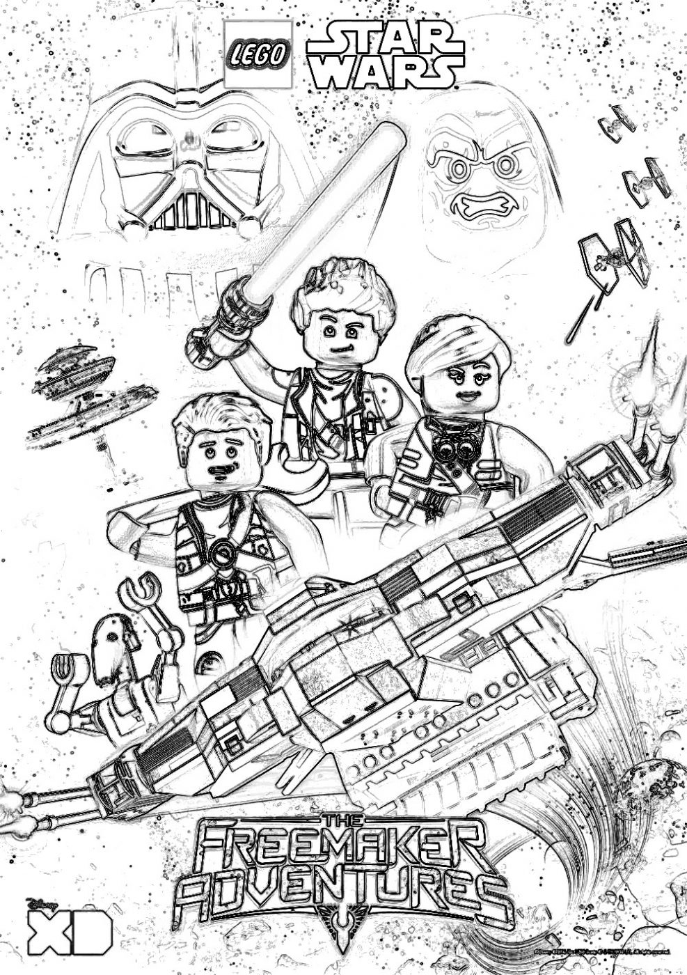 Lego Coloring Pages Star Wars Lego Star Wars Coloring Pages The Freemaker Adventures