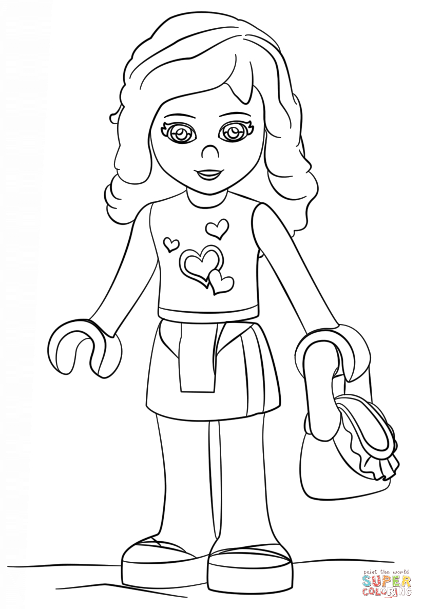 Lego Friends Printable Coloring Pages Coloring Ideas Lego Friends Coloring Pages Printable Free Home