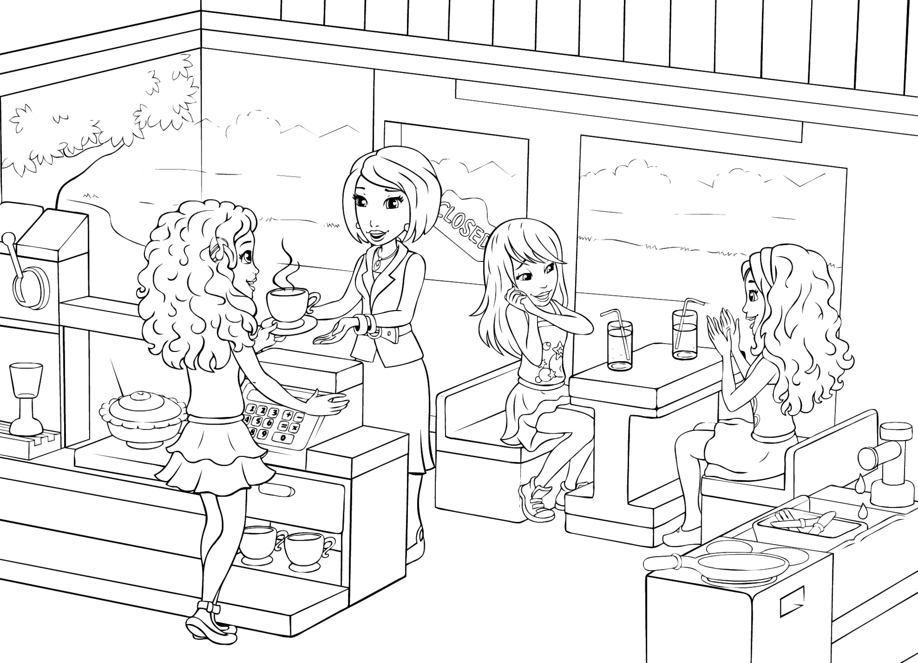 Lego Friends Printable Coloring Pages Lego Friends Coloring Pages Printable Free Coloring Home