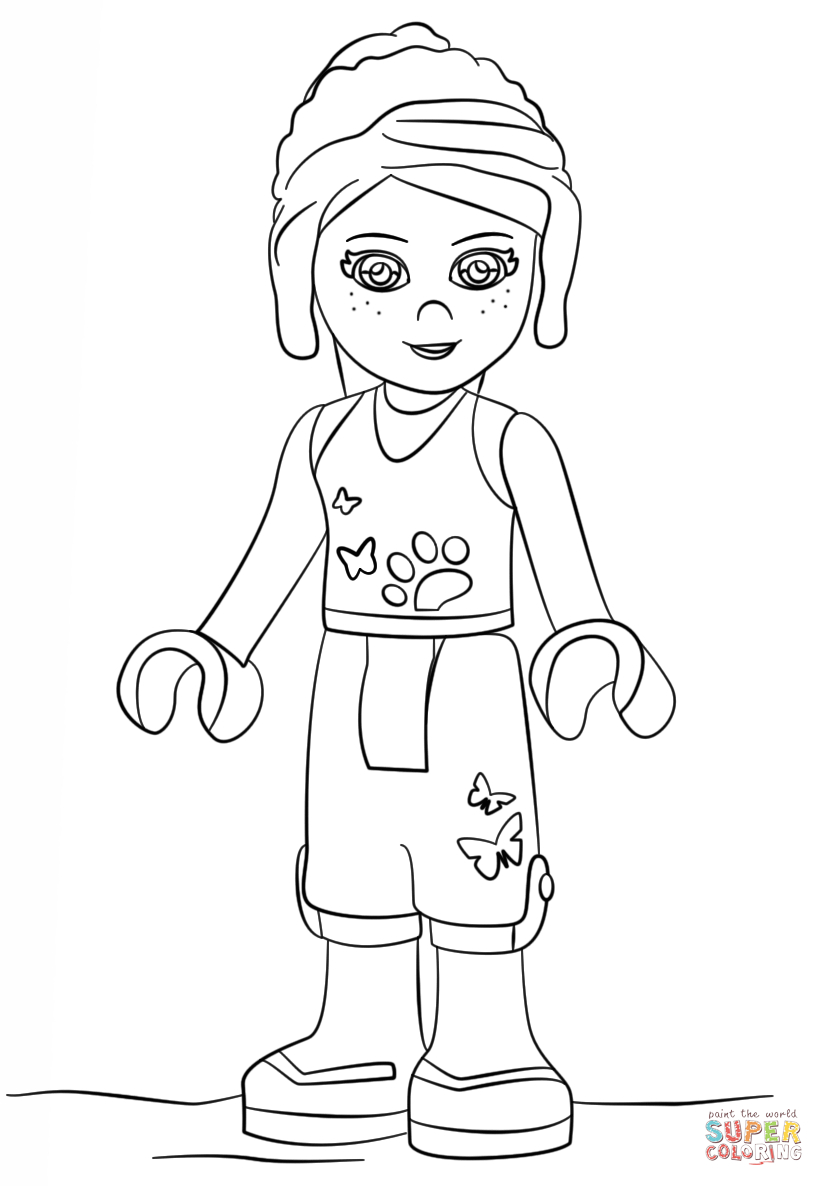Lego Friends Printable Coloring Pages Lego Friends Mia Coloring Page Free Printable Coloring Pages