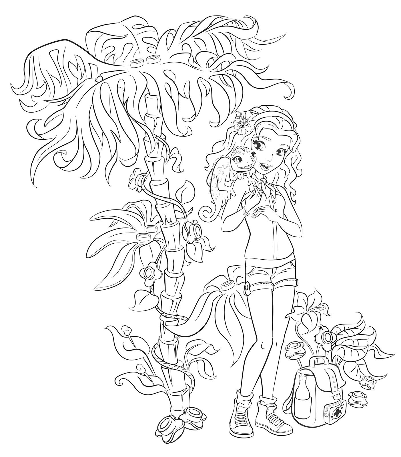 Lego Friends Printable Coloring Pages The Best Free Emma Coloring Page Images Download From 63 Free