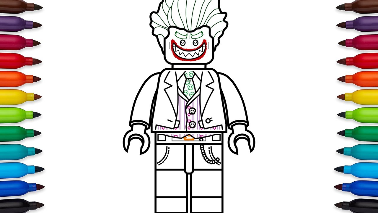 Lego Movie Color Pages How To Draw Lego Joker From The Lego Batman Movie Coloring Pages